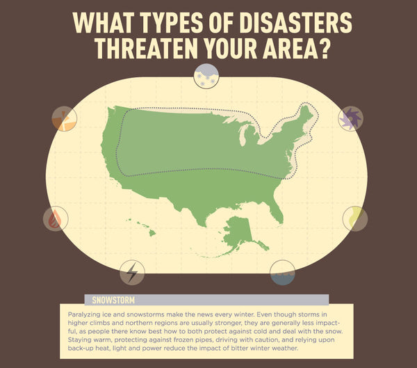 Infographic: US Snowstorm Map - Disasters in Your Area