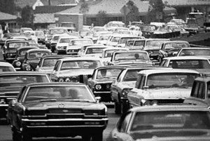 1960s-traffic-jam - Black Friday Facts