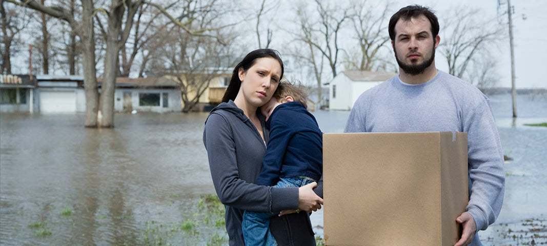Family going through rough times after hurricane / floods