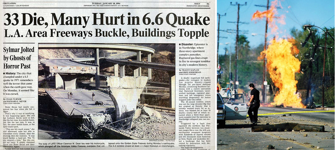 Northridge Quake Newspaper Article
