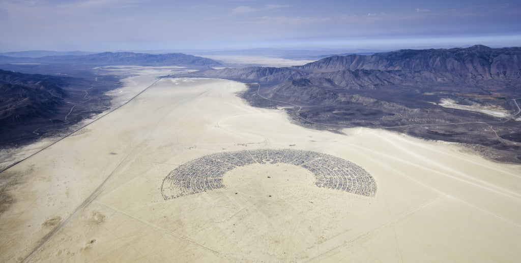 Burning Man as seen from above