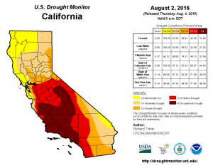 California Drought Monitor Aug 2, 2016