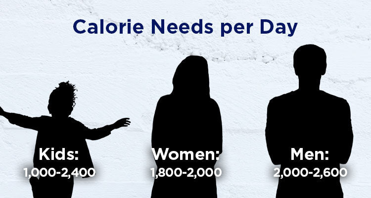 calorie per day requirements by demographic