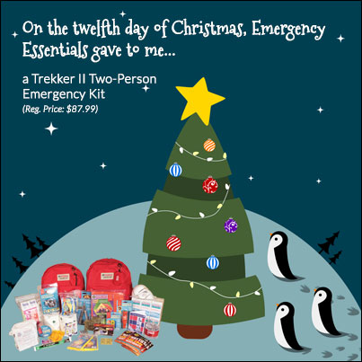 12 Days of Giveaways--Day 12: Trekker 2 Emergency Kit (two person)