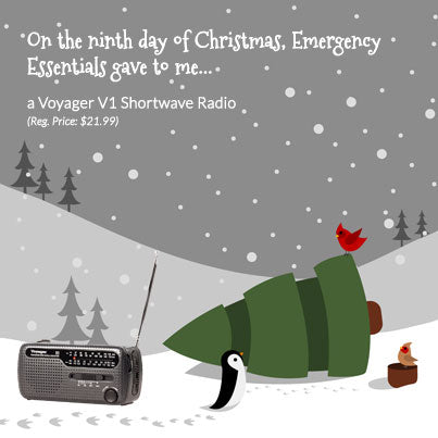 12 Days of Giveaways--Day Nine: A Voyager VI Shortwave Radio