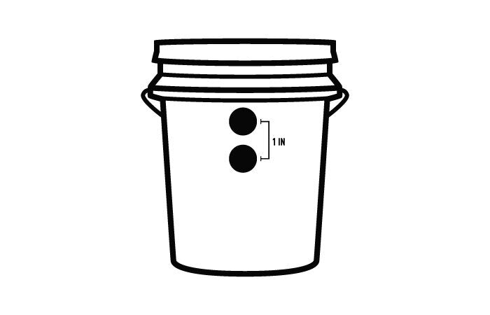 Diagram of Bucket with Two Holes