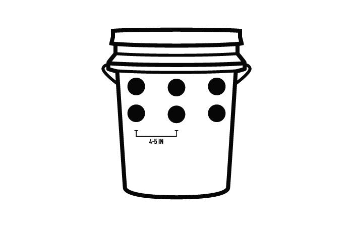 bucket with 6 holes