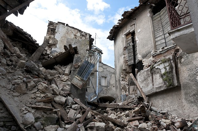 Earthquake Rubble Prepare your home for an earthquake