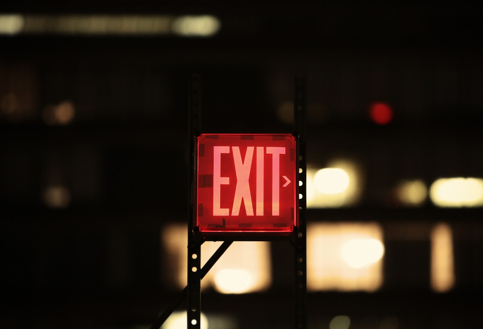 Emergency Action Plan Exit Sign