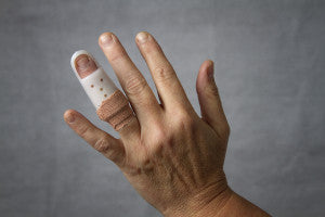 Lesson in First Aid finger splint