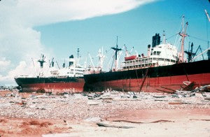Hurricane Camille Beached Boats - Top 5 hurricanes
