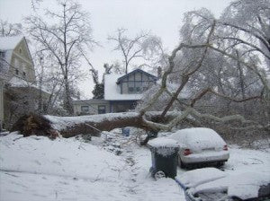 Ice storm forces residents to go dark.