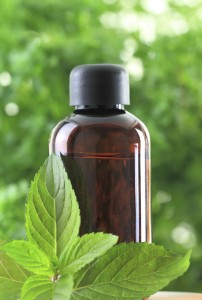 Bottle of Peppermint essential oils