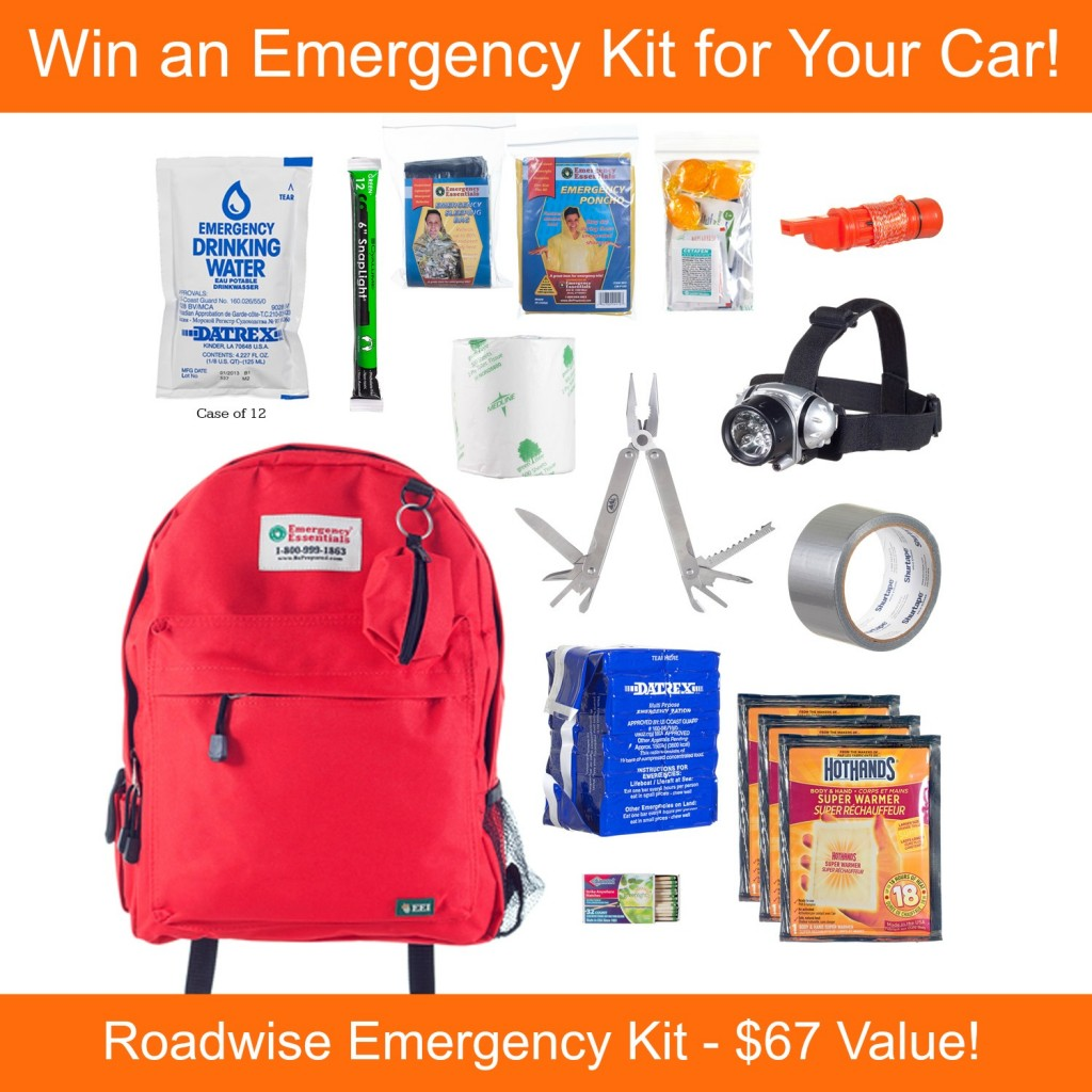 Win an Emergency Kit for your Car from Emergency Essentials! #preppers #emergencyessentials