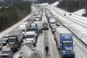 Winter storms catch the South by surprise