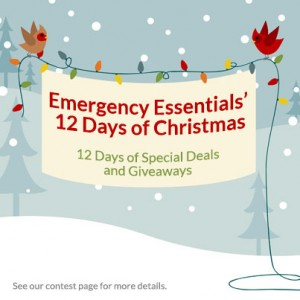 Emergency Essentials' 12 Days of Christmas Giveaways