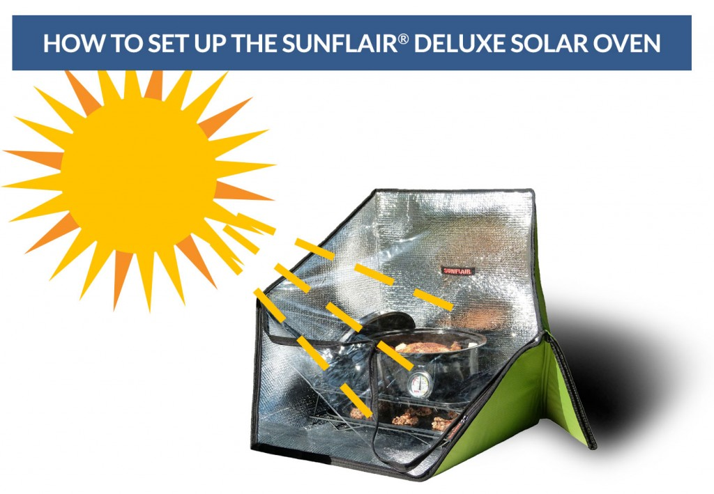 How to set up the Sunflair Solar Oven