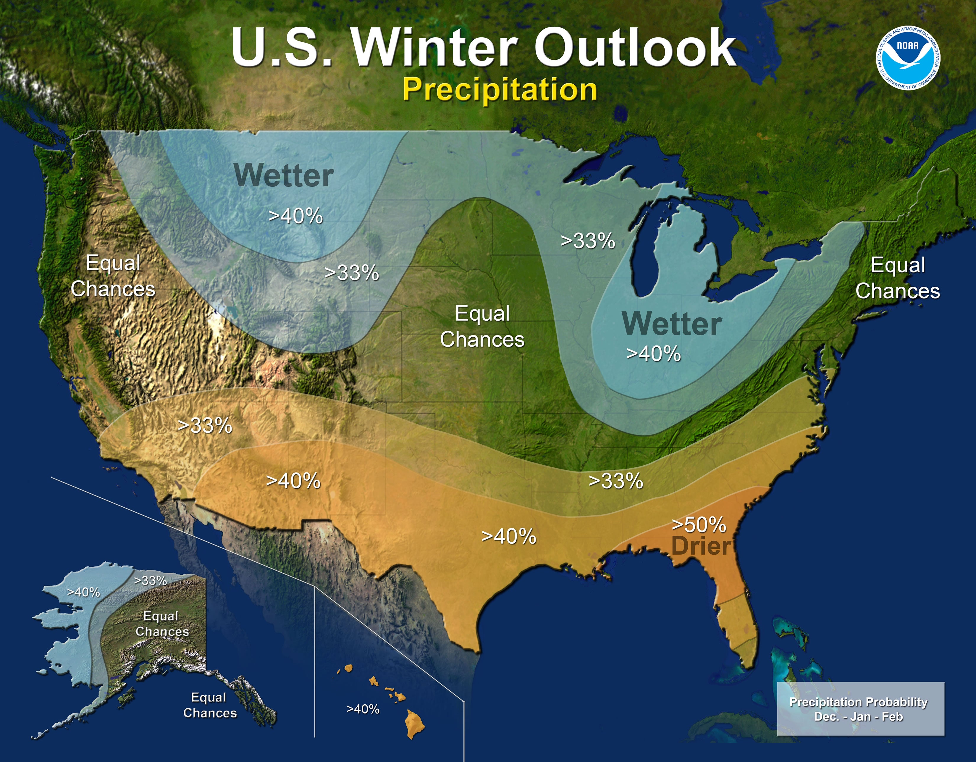Winter 2017 Outlook Map - NOAA