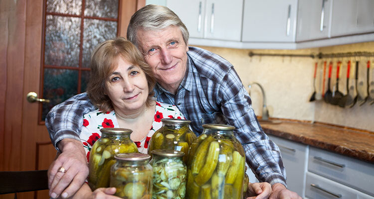 couple canning food