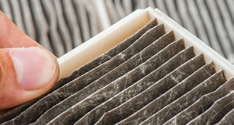 dirty dusty home air filter