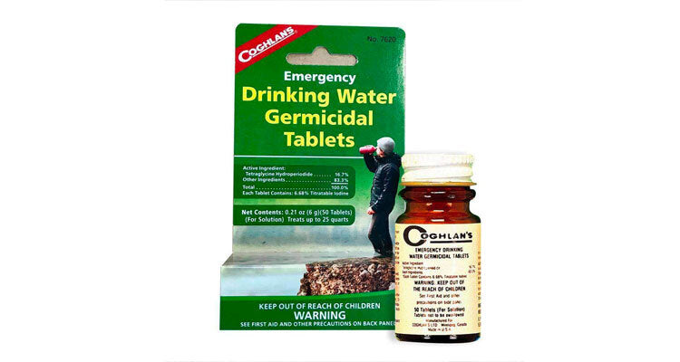 drinking water germacidal tablets