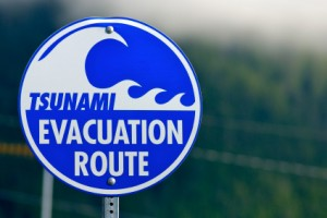 Tsunami Evacuation Route Sign - Could a Tsunami happen in the Pacific Northwest?