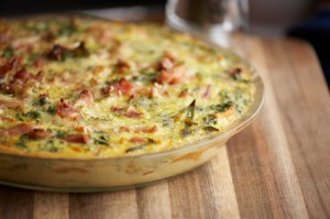 Egg and bacon frittata