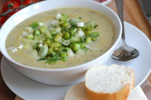 Chicken and Leek Soup from food storage