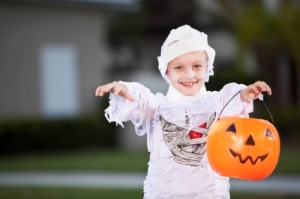 DIY Mummy Costume could be made using emergency supplies like First Aid gauze - Halloween