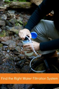 Replaceing the right water filtration system will help meet your needs during an outdoor adventure and emergency
