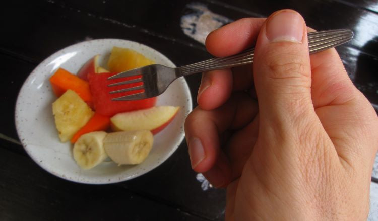 small plate of fruit