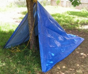 Emergency Shelter: Tarp Shelter