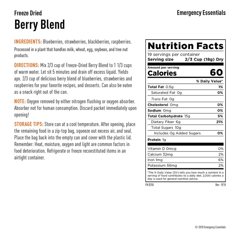 Emergency Essentials® Freeze-Dried Berry Blend Large Can (4625767432332)