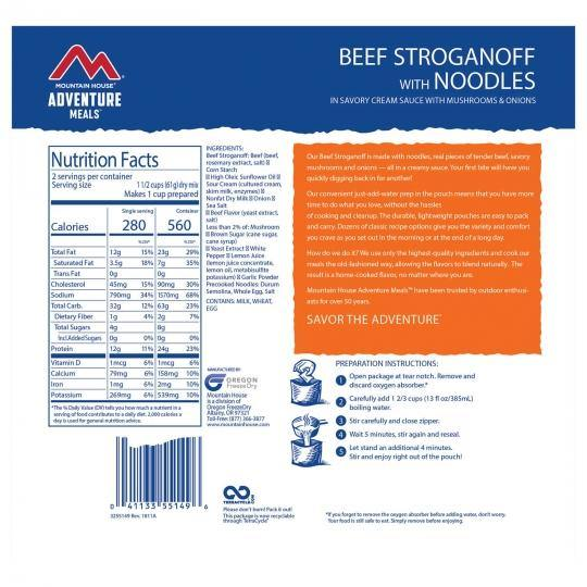 Mountain House® Beef Stroganoff with Noodles (2.5 Servings) (4625870192780)