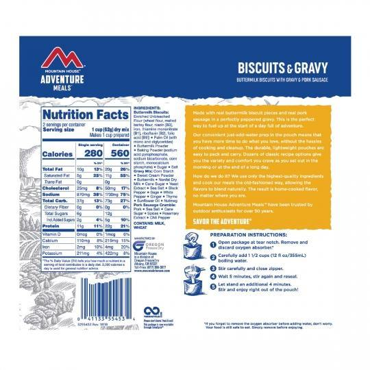 Mountain House® Biscuits and Gravy (2 Servings) (4626206457996)
