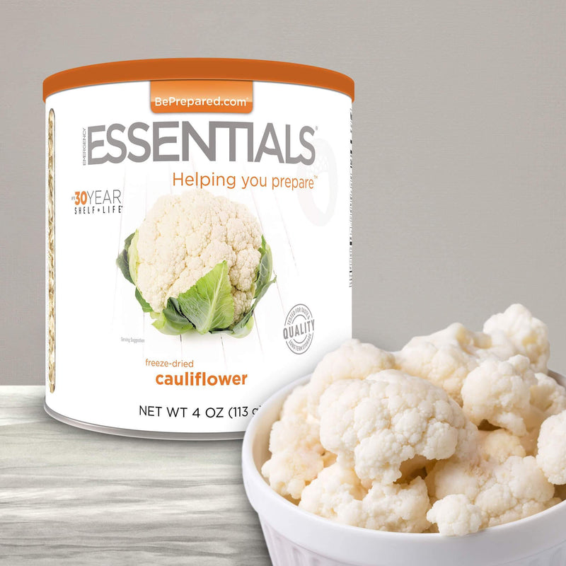 Emergency Essentials® Freeze-Dried Cauliflower Large Can (4625769791628)