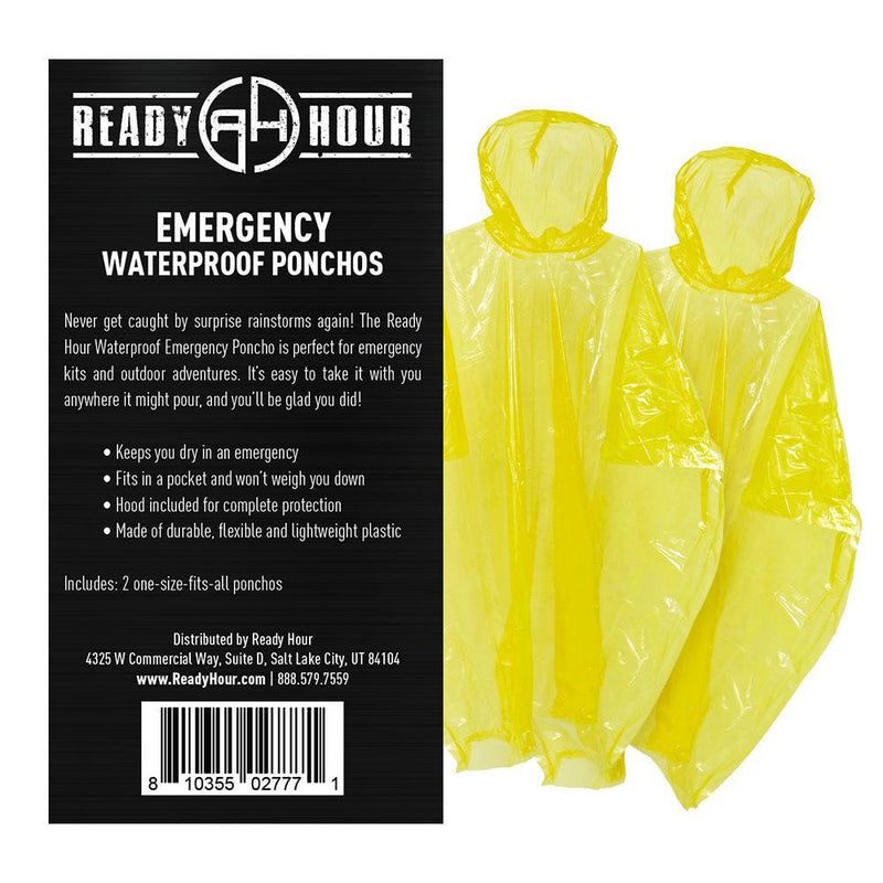 Emergency Poncho (2-pack) by Ready Hour - My Patriot Supply (4663490183308)
