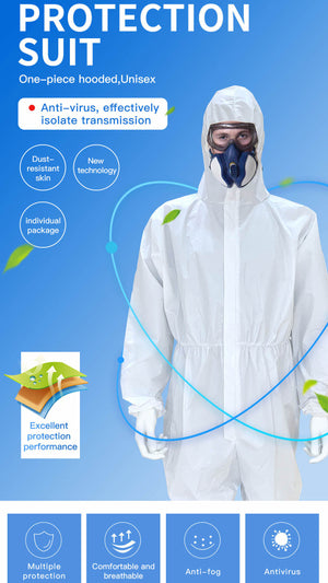 15 Adult Antivirus Disposable Protective Coveralls (Pack of 15)