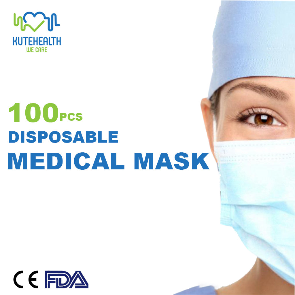 100pcs 3 Ply Disposable Medical Mask