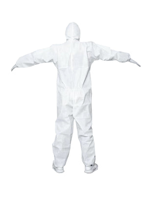5 Adult Antivirus Disposable Protective Coveralls (Pack of 5)