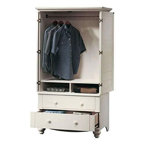 Bedroom Wardrobe Cabinet Storage Armoire with Louver Doors in White Wardrobe Storage Cabinet Closet Armoire Bedroom Clothes Wood Svitlife