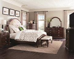 Image of Coaster Fine Furniture Sherwood bedroom 4 pc Includes, (1 queen bed, 1 night Stand, 1 Dresser, 1 Mirror)