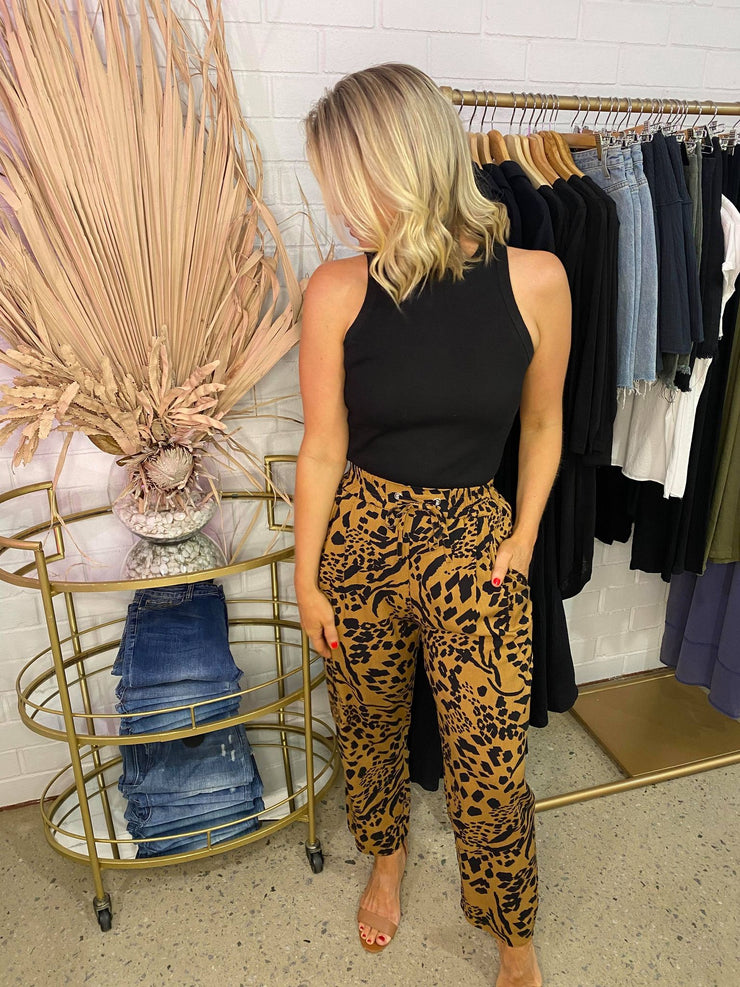 Mila Pant - Brown