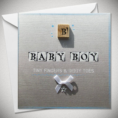 B is for Baby Boy - Tiny Fingers and Diddy Toes - Chic Petit