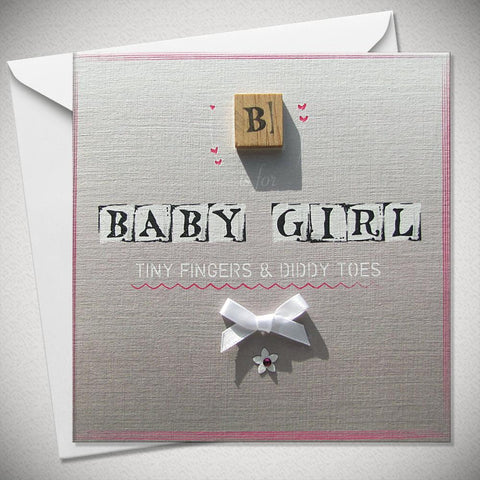 B is for Baby Girl - Tiny Fingers and Diddy Toes - Chic Petit