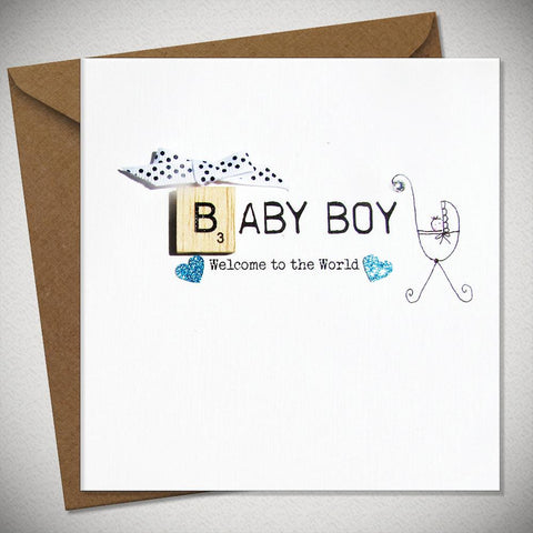 Baby Boy - Welcome to the World Card - Chic Petit