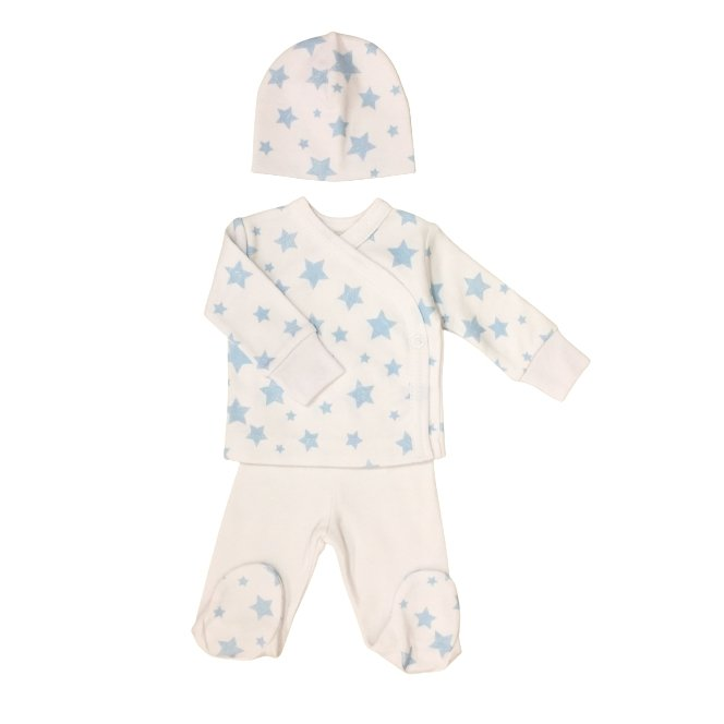 Blue Stars Layette Set Long Sleeve - Chic Petit