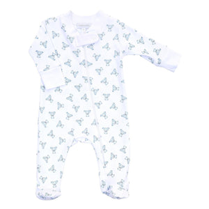 Blue Teddy Printed Babygrow - Chic Petit