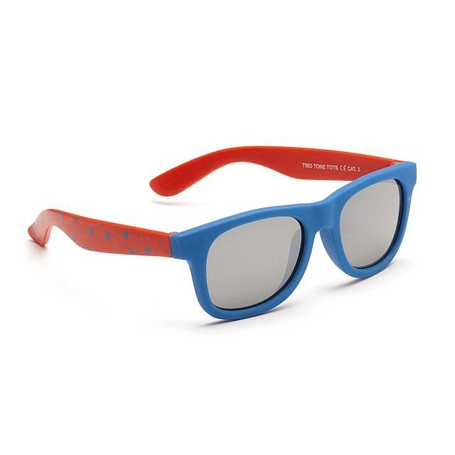 Boys Two Tone Tots Sunglasses - Blue and Red - Chic Petit
