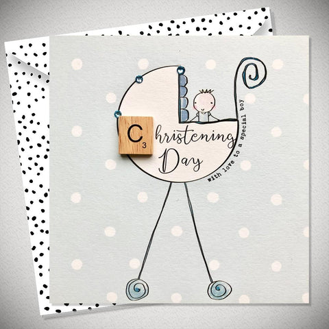 Christening Day Baby Boy Card - With Love to a Special Boy - Chic Petit